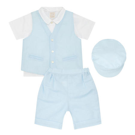 Babies Kayden Linen Four-Piece Blue