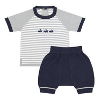 Babies Knitted Two-Piece Multi