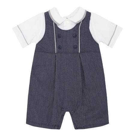 Maxwell Stripe Dungarees Blue