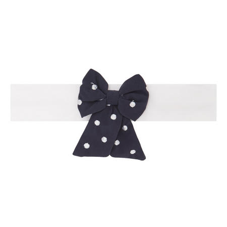 Misty Bow Headband Navy