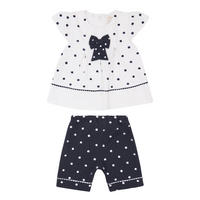 Miranda Spotty Top And Trouser Set Navy