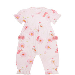 Baby Girls Maisie Floral Print Jumpsuit Pink
