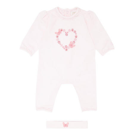 Marine Heart Romper Pink