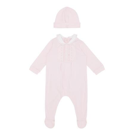 Mabel Petal Romper And Hat Set Pink