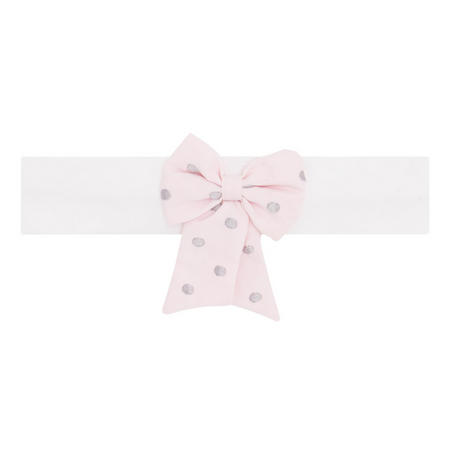 Misty Bow Headband Pink