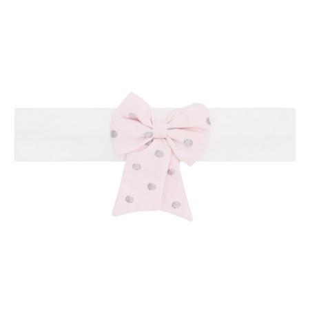 Misty Bow Headband Pink