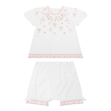 Babies Flower Two-Piece White