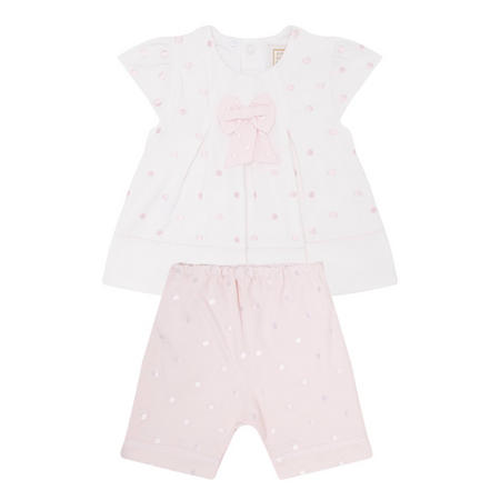 Miranda Spotty Top And Trouser Set Pink