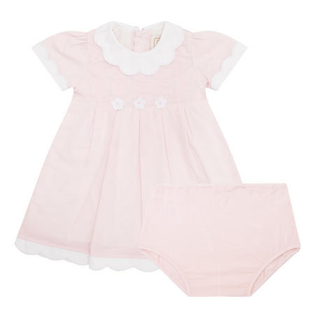 Baby Girls Maggie Scalloped Dress Pink