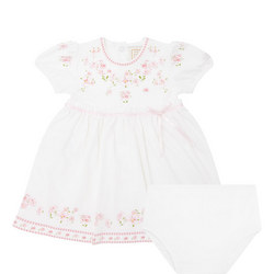 Babies Maddy Flower Dress White