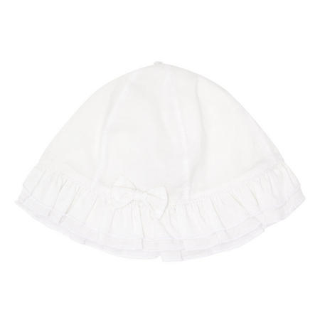 Baby Girls Gabby Bow Hat White
