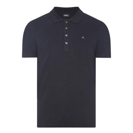Embellished Logo Polo Shirt Black