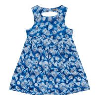 Girls Floral Paisley Print Dress Blue