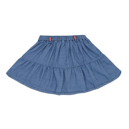 Girls Denim Skater Skirt Blue