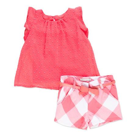 Girls Top And Shorts Set Orange