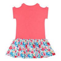Girls Tropical Floral Dress Pink