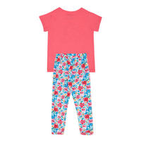 Girls Two Piece Leggings & T-Shirt Set Multicolour