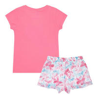 Girls Butterfly T-Shirt and Shorts Pink