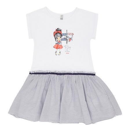 Girls Casual T-Shirt Dress White