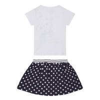 Girls T-Shirt & Skirt Set White