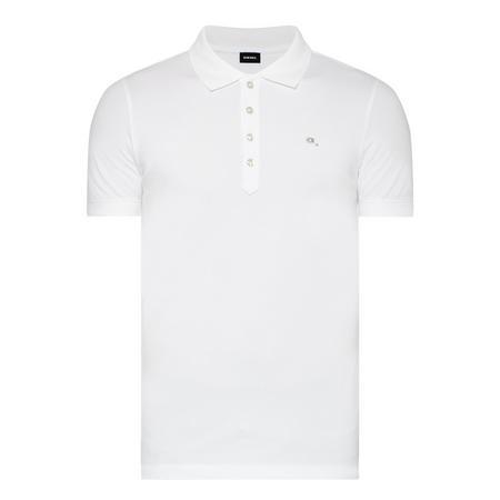 Embellished Logo Polo Shirt White
