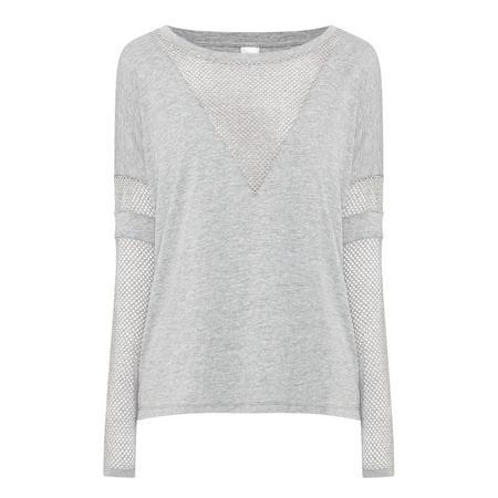 Girlfriend Long Sleeve Top Grey