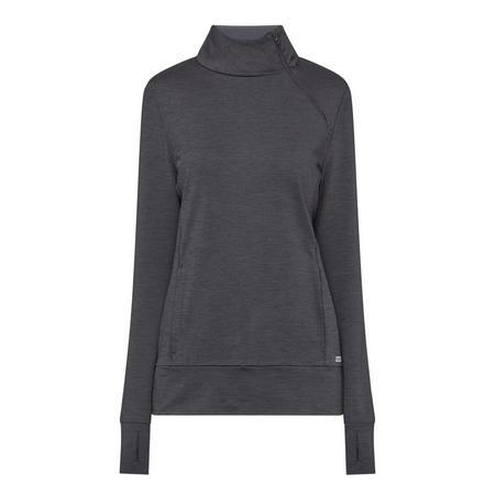 Crescent Half-Zip Top Grey