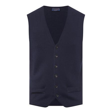 Merino Wool Waistcoat Navy