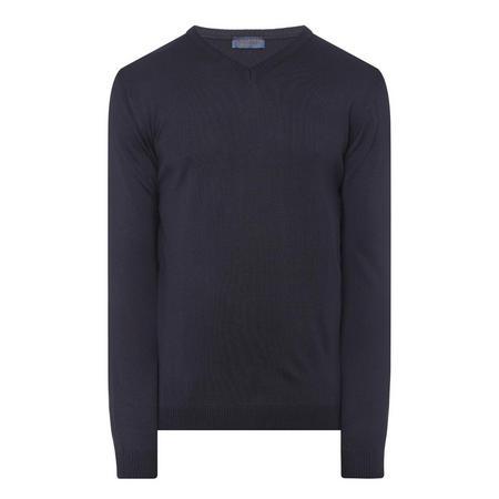 V-Neck Merino Sweater Navy
