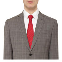 Check Print Suit Grey