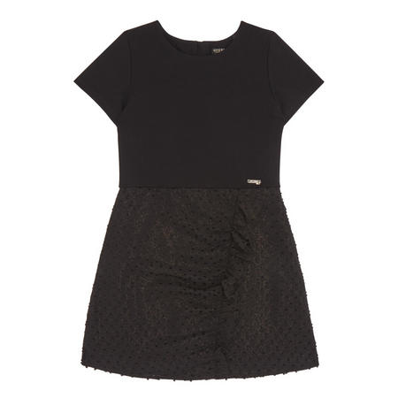 Girls Dotty Dress Black
