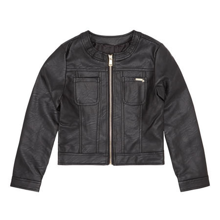Girls PU Jacket Black