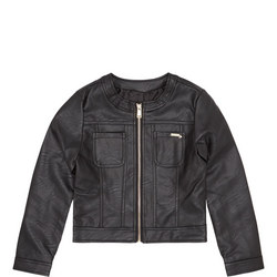 Girls PU Jacket Black