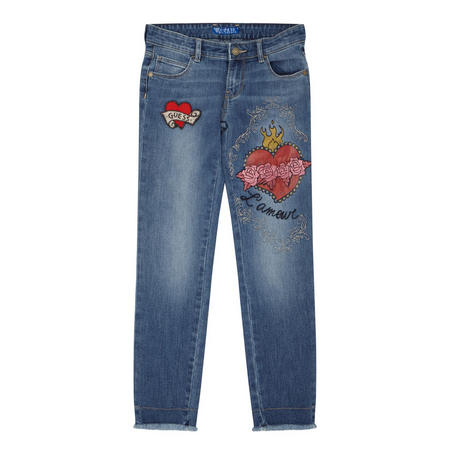 Girls Rose Jeans Blue