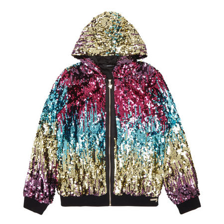 8fa0a8b19 Images. Girls Sparkly Sequin Jacket Multicolour