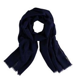 Pure Wool Wrap Scarf Blue