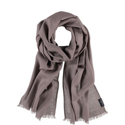 Pure Wool Wrap Scarf Brown