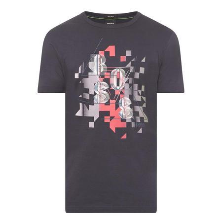 Logo Print Short Sleeve T-Shirt Navy
