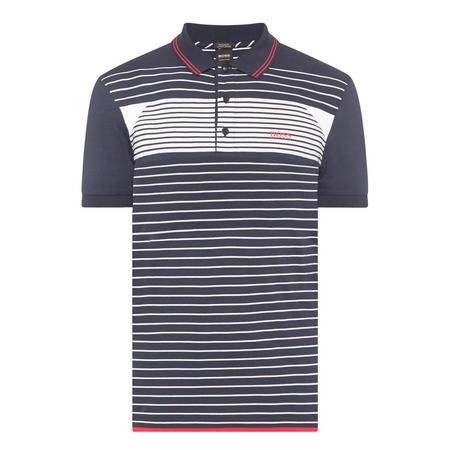 Stripe Detail Polo Shirt Navy