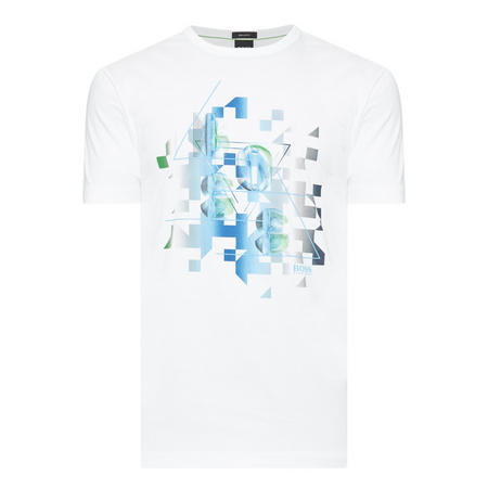 3Logo Print T-Shirt White