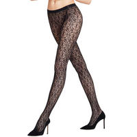 Ceramic Lace Tights Black
