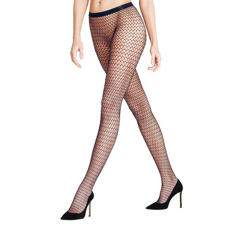 Diamond Fish Net Tights Navy