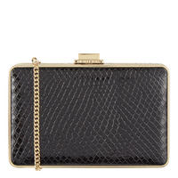 Pearl Box Clutch Black