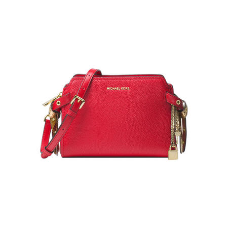 Bristol Leather Messenger Bag Red