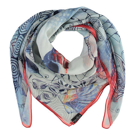 Shell Print Scarf Multicolour