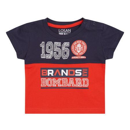 Colour-Block T-Shirt Red
