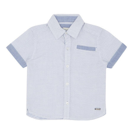 Babies Dot Pattern Shirt Blue