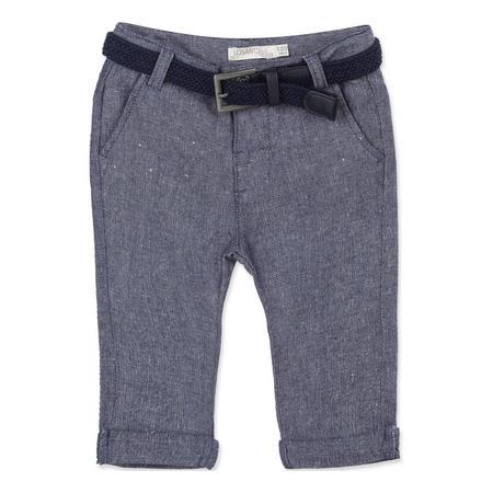 Babies Linen Trousers Blue