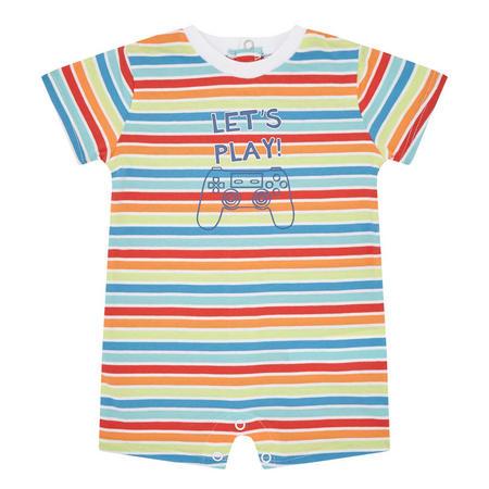 Babies Let's Play Striped Romper Multicolour