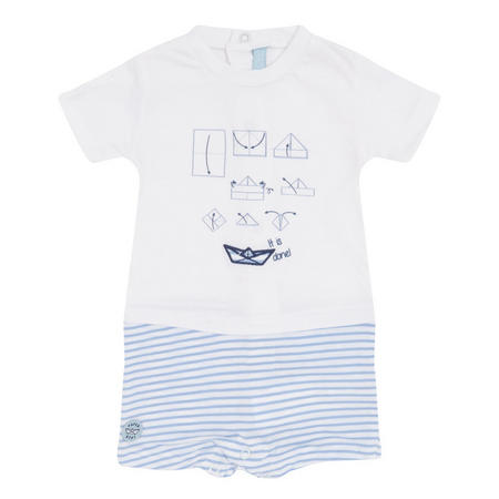 Babies Boat Dungarees White